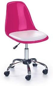Halmar Detská stolička Coco 2 ružovo-biela