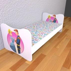 Detská posteľ 140cm x 70cm Popoluška S matracom So zásuvkou 2ks pevné zábranky