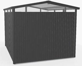 Záhradný domček BIOHORT Panorama P5 273 x 318 (tmavo sivá metalíza)