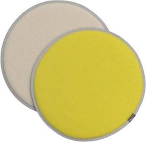 Vitra Sedák na stoličku Seat Dot, yellow-parchment