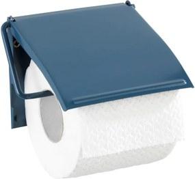 Modrý nástenný držiak na toaletný papier Wenko Cover