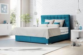 Posteľ Boxspring Edward 200x200 cm, vr. matraca, topperu
