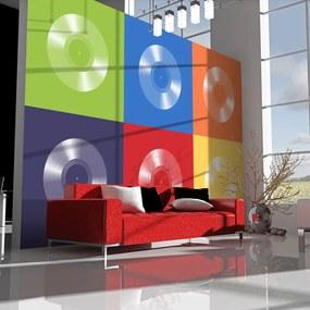 Fototapeta - Vinyl record and colors 400x309