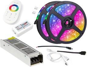 BERGE LED pásik - RGB 5050 - 10m - IP20 - SADA na strop