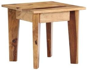 vidaXL Bočný stolík 43x43x40 cm masívne sheeshamové drevo