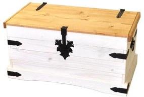 OVN truhlica IDN 16451B borovica masív biely vosk