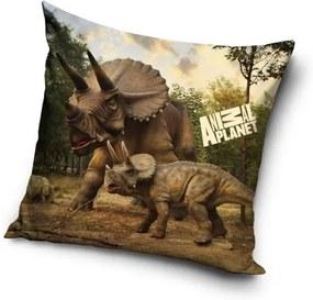 CARBOTEX Obliečka na Vankúšik Animal Planet Triceratops micro Polyester 40/40 cm