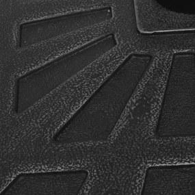 vidaXL Stojan na slnečník, živicový, štvorcový, čierny, 12 kg
