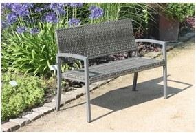Sivá záhradná lavica ADDU Sanremo
