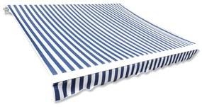 vidaXL Tieniaca plachta na markízu, modro biela 6x3 m (bez rámu)