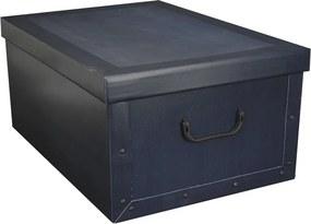 Home collection Úložné krabice klasik 51x37x24cm tm. modrá