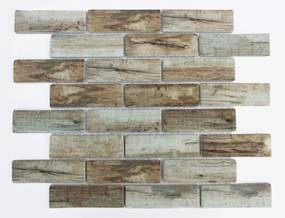 Sklenená mozaika Premium Mosaic brown 26x30 cm mat MOSV98BBR