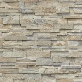 Vliesové tapety, kameň pieskovec svetlo hnedý, Origin 236310, P+S International, rozmer 10,05 m x 0,53 m