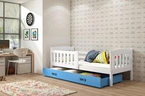 Posteľ KUBO 1 - 200x90cm - Biely - Modrý