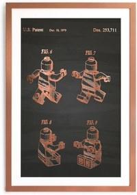 Zarámovaný plagát Really Nice Things Good Lego, 40 x 60 cm