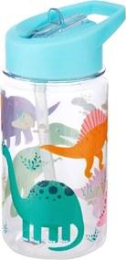 Fľaša na vodu s motívom dinosaurov 400 ml