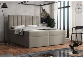 Čalúnená posteľ boxspring 180x200 SAMANTA - hnedá 2