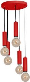 Luminex Luster TUBES 5xE27/60W/230V červená LU8511