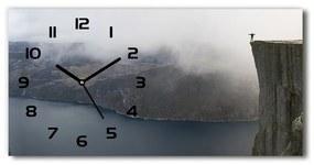 Sklenené hodiny na stenu tiché Nórsko útes pl_zsp_60x30_f_106891246