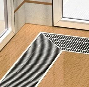 Boki Podlahový konvektor bez ventilátora 2300 x 180 x 90 mm pozink FMK-18-230-09-01