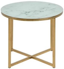 Alisma príručný stolík R50 biela / zlatá