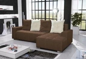 Expedo Rohová sedacia súprava FUTURA, 240x131 cm, sawana, svetlo hnedá/krémová, pravý