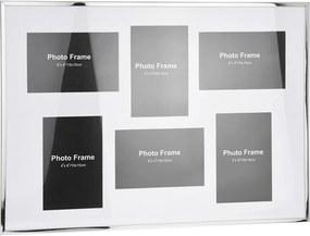 DekorStyle Rámček na stenu - 6 fotografií 10 × 15 cm - biely