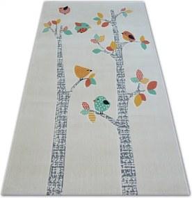 MAXMAX Detský kusový koberec Vtáčiky - biely