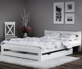 AMI nábytok Posteľ borovica Eureka VitBed 120x200cm masív biela