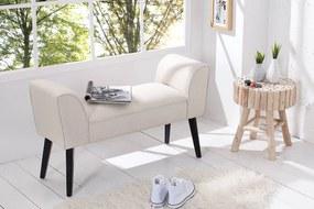 Dizajnová lavica Charlotte 90 cm krémová