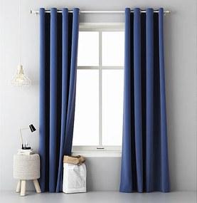 Tmavo modrý záves jednofarebný Aura 140x250cm
