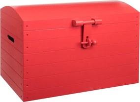 Drevobox Drevená truhlica červená