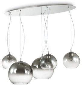 Závesné svietidlo Ideal lux 138305 DISCOVERY FADE SP5 5xE27 60W chróm