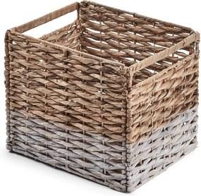 Prútený úložný box s bielym detailom La Forma Woody