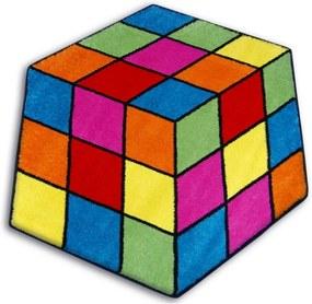 Detský kusový koberec Rubikova kocka viacfarebný, Velikosti 80cm