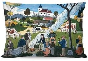 Matějovský Obliečka na vankúšik Deluxe Josef Lada Jeseň, 33 x 50 cm