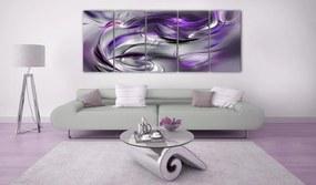 Fialový moderný obraz - Purple Gale
