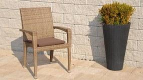 Exterio Cuba komfort stolička natur