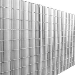 [neu.haus]® Dekoratívna clona - 35 m x 19 cm - strieborná