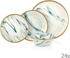 24-dielny set porcelánového riadu Mia Lucid Blues