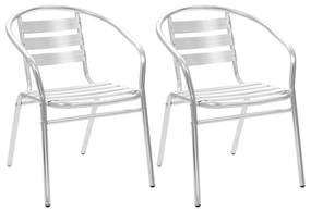 vidaXL Stohovateľné vonkajšie stoličky 2 ks, hliník