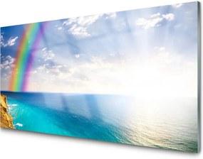 Skleněný obraz Dúha u More Krajina