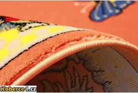 Detský koberec Panda oranžový, Velikosti 125x160cm
