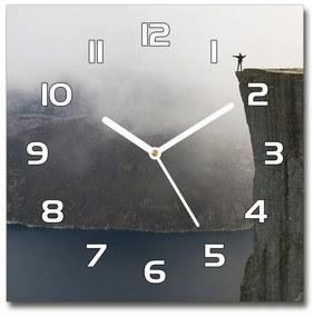 Sklenené hodiny štvorec Nórsky útes pl_zsk_30x30_f_106891246