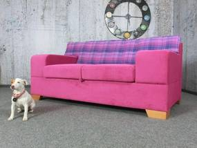(2449) ROSARA ružová elegantná pohovka s úložným priestorom