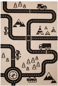 Zala Living - Hanse Home koberce Kusový koberec Vini 103024 Road Map Charly 120x170 cm - 120x170 cm
