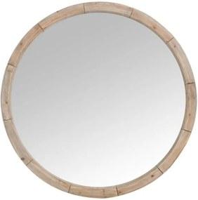 Okrúhle drevené nástenné zrkadlo Mind - Ø122 * 7cm