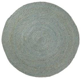 Modrý jutový koberec La Forma Dip, ⌀ 100 cm