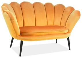 Hector Pohovka Muse 150 cm žlutá/wenge