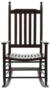 vidaXL Hojdacie kreslo so zakriveným sedadlom drevené hnedé